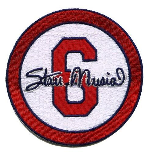 Stitched Stan (The Man) Musial #6 St Louis Cardinals Memorial White Sleeve Patch (2013)