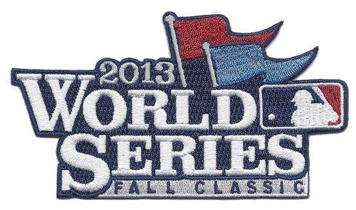 Stitched 2013 MLB World Series Logo Fall Classic Jersey Sleeve Patch St Louis Cardinals vs Boston Red Sox