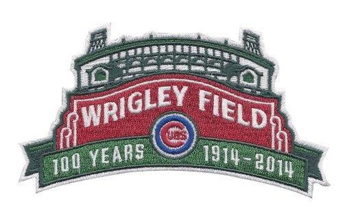 Stitched 2014 MLB Chicago Cubs Wrigley Field's 100th Anniversary MLB Season Jersey Sleeve Patch