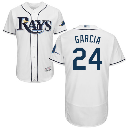 Rays #24 Avisail Garcia White Flexbase Authentic Collection Stitched MLB Jersey