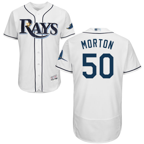 Rays #50 Charlie Morton White Flexbase Authentic Collection Stitched MLB Jersey