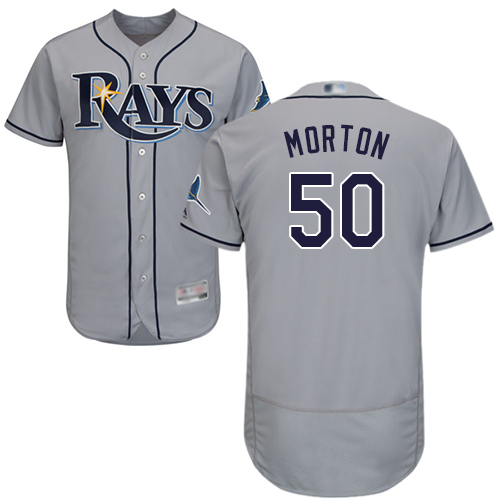 Rays #50 Charlie Morton Grey Flexbase Authentic Collection Stitched MLB Jersey