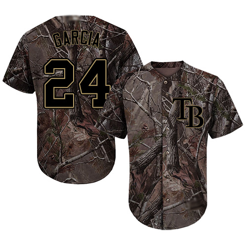 Rays #24 Avisail Garcia Camo Realtree Collection Cool Base Stitched MLB Jersey