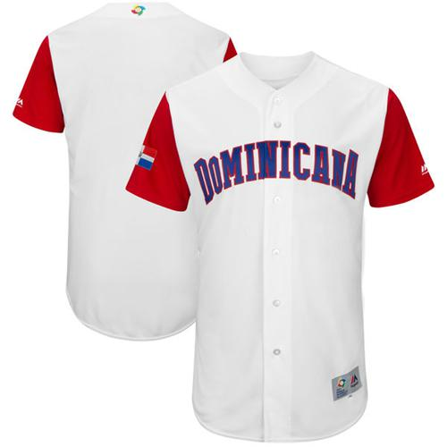 Team Dominican Republic Blank White 2017 World MLB Classic Authentic Stitched MLB Jersey