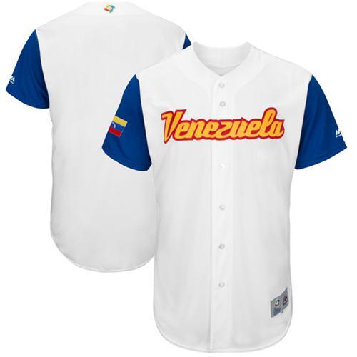 Team Venezuela Blank White 2017 World MLB Classic Authentic Stitched MLB Jersey
