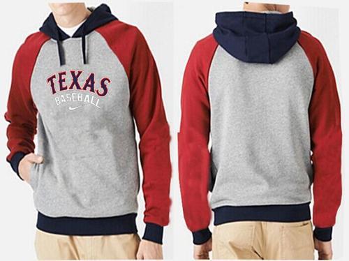 Texas Rangers Pullover Hoodie Red & Grey