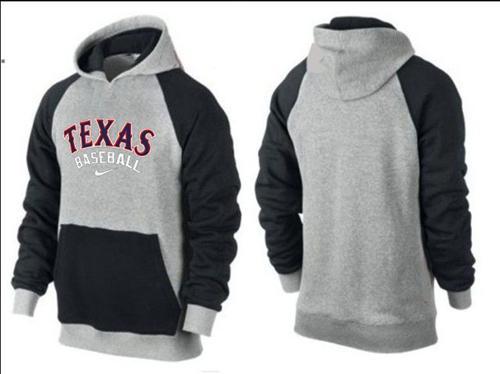 Texas Rangers Pullover Hoodie Grey & Black
