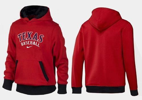 Texas Rangers Pullover Hoodie Red & Black