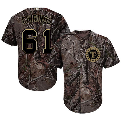Rangers #61 Robinson Chirinos Camo Realtree Collection Cool Base Stitched MLB Jersey