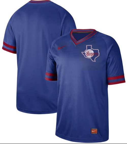 Nike Rangers Blank Royal Authentic Cooperstown Collection Stitched MLB Jersey