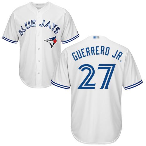 Blue Jays #27 Vladimir Guerrero Jr. White New Cool Base Stitched MLB Jersey
