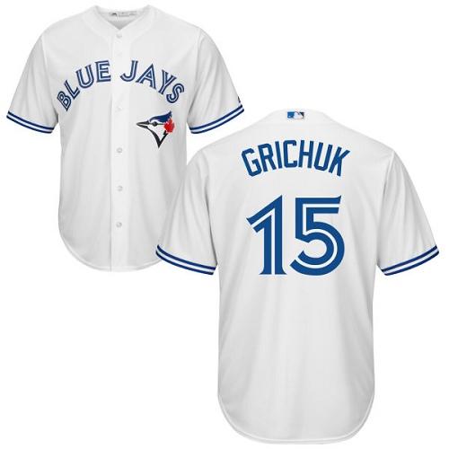 Blue Jays #15 Randal Grichuk White New Cool Base Stitched MLB Jersey