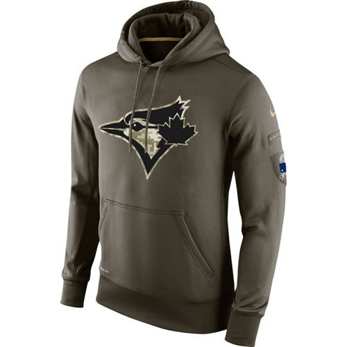 Men's Toronto Blue Jays Nike Olive Salute To Service KO Performance Hoodie