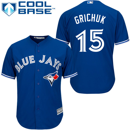 Blue Jays #15 Randal Grichuk Blue New Cool Base Stitched MLB Jersey