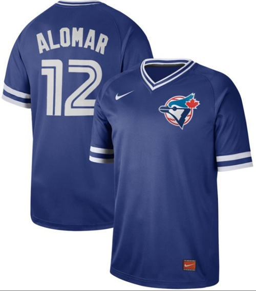 Nike Blue Jays #12 Roberto Alomar Royal Authentic Cooperstown Collection Stitched MLB Jersey