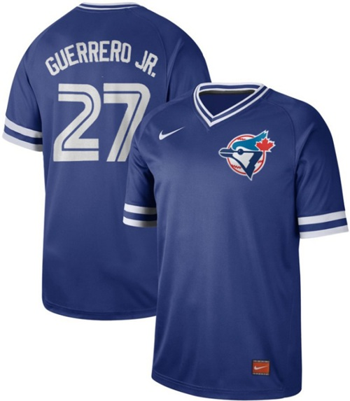 Nike Blue Jays #27 Vladimir Guerrero Jr. Royal Authentic Cooperstown Collection Stitched MLB Jersey