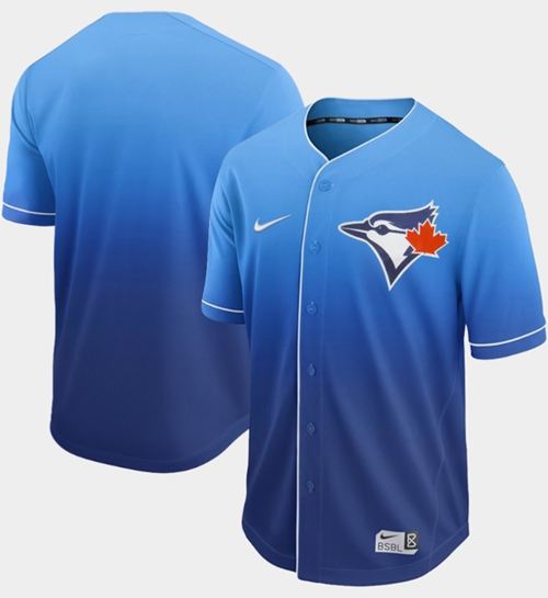 Nike Blue Jays Blank Royal Fade Authentic Stitched MLB Jersey