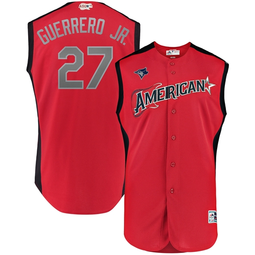Blue Jays #27 Vladimir Guerrero Jr. Red 2019 All-Star American League Stitched MLB Jersey