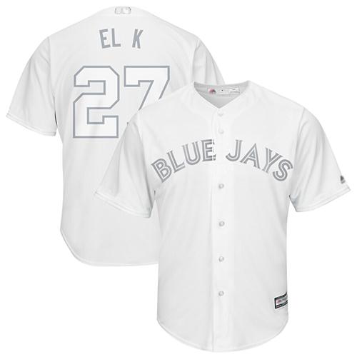 Blue Jays #27 Vladimir Guerrero Jr. White