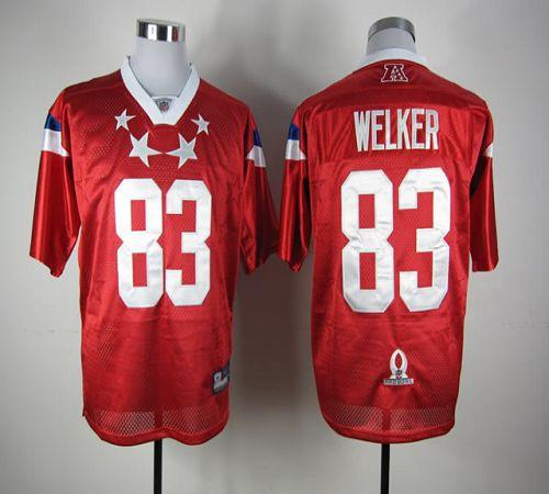 Patriots #83 Wes Welker Red 2012 Pro Bowl Stitched NFL Jersey