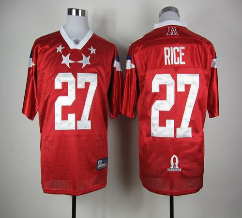 Ravens #27 Ray Rice Red 2012 Pro Bowl Stitched NFL Jersey