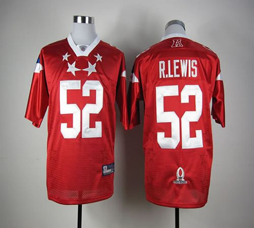 Ravens #52 Ray Lewis Red 2012 Pro Bowl Stitched NFL Jersey