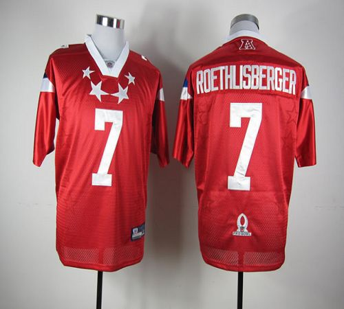 Steelers #7 Ben Roethlisberger Red 2012 Pro Bowl Stitched NFL Jersey