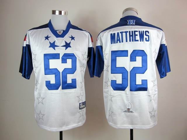 Packers #52 Clay Matthews White 2012 Pro Bowl Stitched NFL Jersey