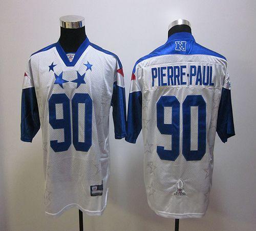 Giants #90 Jason Pierre-Paul White 2012 Pro Bowl Stitched NFL Jersey