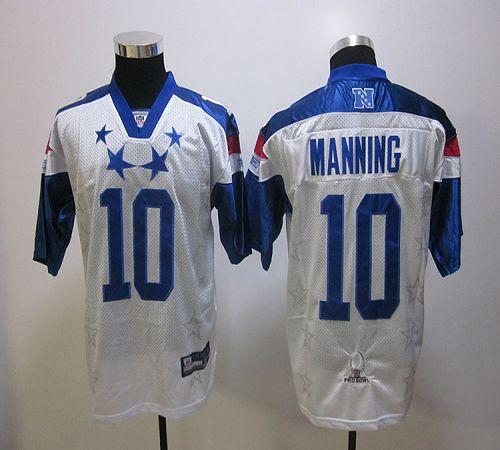 Giants #10 Eli Manning White 2012 Pro Bowl Stitched NFL Jersey