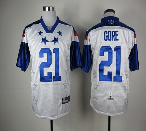 49ers #21 Frank Gore White 2012 Pro Bowl Stitched NFL Jersey