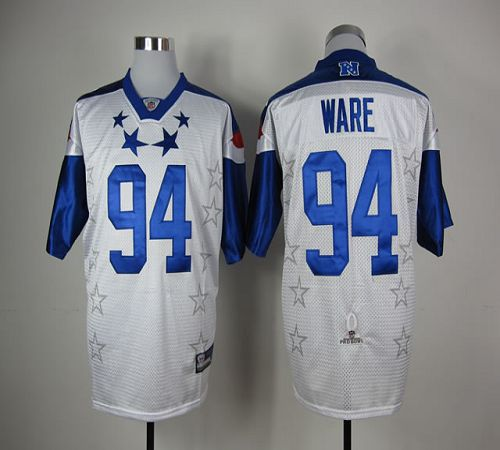 Cowboys #94 DeMarcus Ware White 2012 Pro Bowl Stitched NFL Jersey
