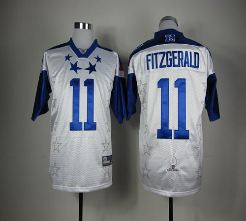 Cardinals #11 Larry Fitzgerald White 2012 Pro Bowl Stitched NFL Jersey