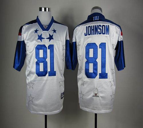 Lions #81 Calvin Johnson White 2012 Pro Bowl Stitched NFL Jersey