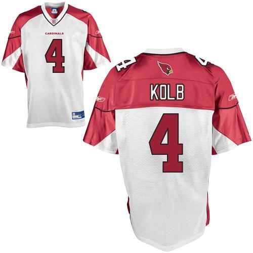 Cardinals #4 Kevin Kolb White Stitched NFL Jersey