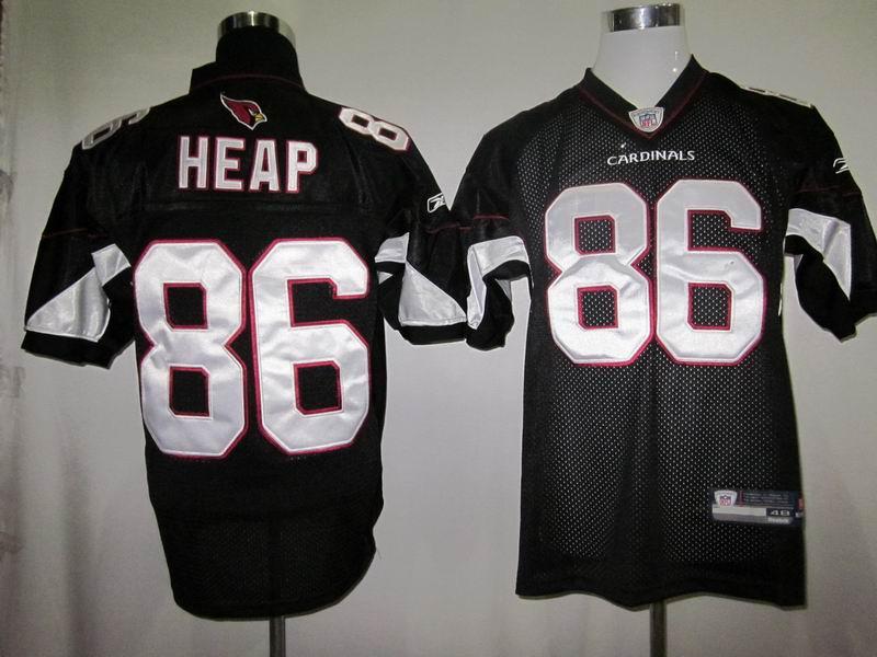 Cardinals #86 Todd Heap Black Alternate Stitched NFL Jersey