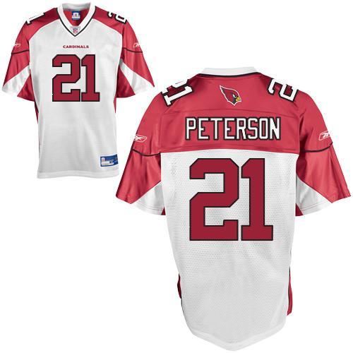 Cardinals #21 Patrick Peterson White Stitched NFL Jersey