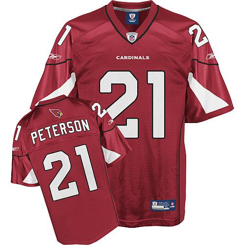 Cardinals #21 Patrick Peterson Red Stitched NFL Jersey