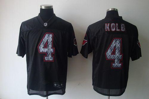 Sideline Black United Cardinals #4 Kevin Kolb Black Stitched NFL Jersey
