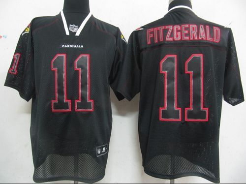 Cardinals #11 Larry Fitzgerald Lights Out Black Stitched NFL Jersey