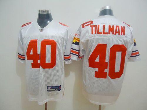 Cardinals #40 Pat Tillman White Throwback Stitched NFL Jersey