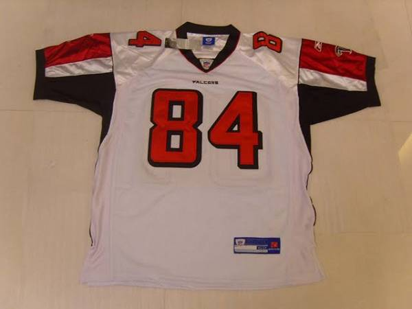 Falcons #84 Roddy White White Stitched NFL Jersey