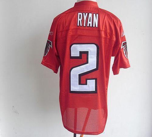Falcons #2 Matt Ryan Red QB Practice Stitched NFL Jersey