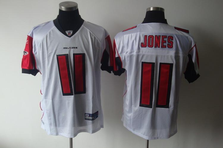 Falcons #11 Julio Jones White Stitched NFL Jersey