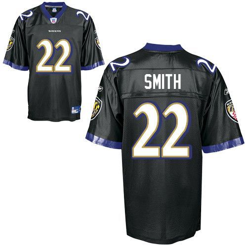 Ravens #22 Jimmy Smith Black Stitched NFL Jersey