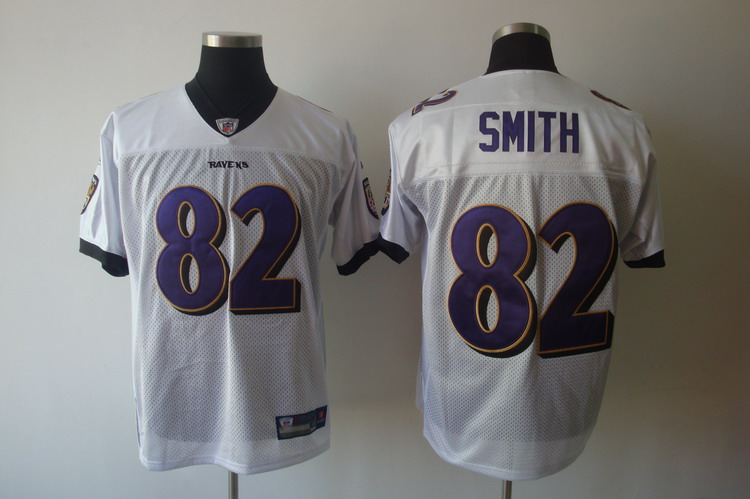 Ravens #82 Torrey Smith White Stitched NFL Jersey
