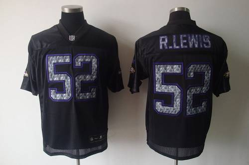 Sideline Black United Ravens #52 Ray Lewis Black Stitched NFL Jersey