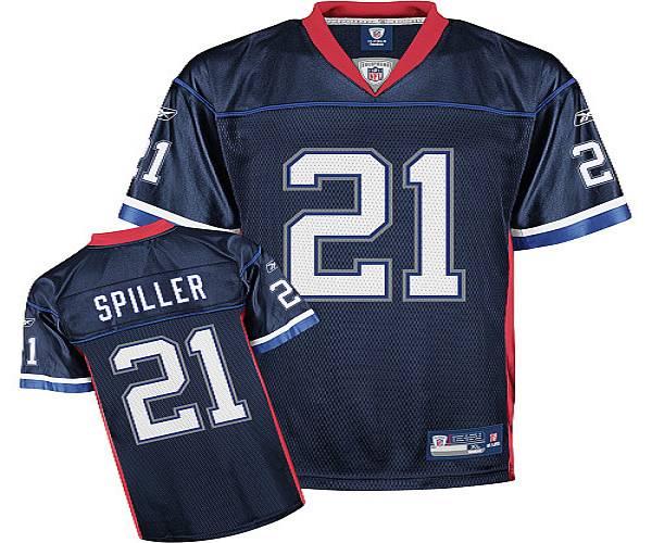 Bills #21 C.J. Spiller Dark Blue Stitched NFL Jersey