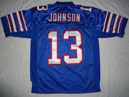 Bills #13 Steve Johnson Baby Blue Stitched NFL Jersey