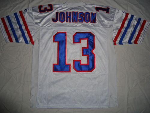 Bills #13 Steve Johnson White Stitched NFL Jersey